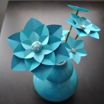 Teal Paper Flowers (Copyright © 2010 Ashley D. Hairston)