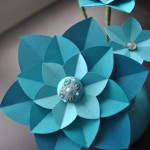 Teal Paper Flowers (detail) (Copyright © 2010 Ashley D. Hairston)