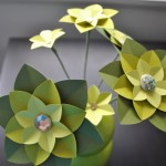 Green Paper Flowers (Copyright © 2010 Ashley D. Hairston)
