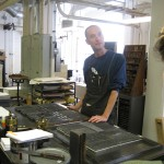 The composing and printing room, Arion Press