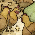 """""""Chickens! Chickens! Look at me!"""" (detail) (Copyright © 2006 Ashley D. Hairston)"""